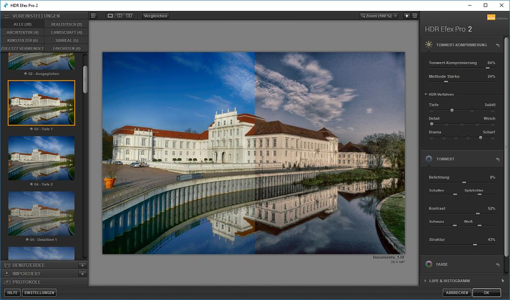 Affinity Photo und Google Nik Collection