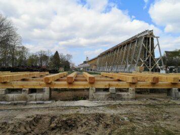 Bad Dürrenberg - Baustelle Gradierwerk