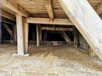 Bad Dürrenberg - Baustelle Gradierwerk-Stützpfeiler