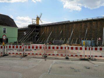 Bad Dürrenberg - Baustelle an der Ecke Hauptstraße und Promenade