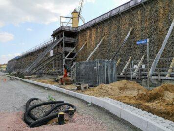 Bad Dürrenberg - Baustelle an der Promenade