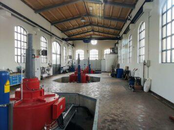 Bad Dürrenberg - Blick ins neue Wasserkraftwerk