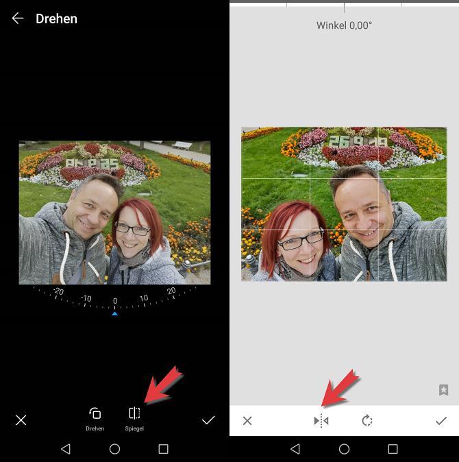 App zum Spiegeln eines Fotos
