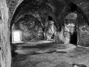 Im Inneren der Burgruine Arnstein in Harkerode