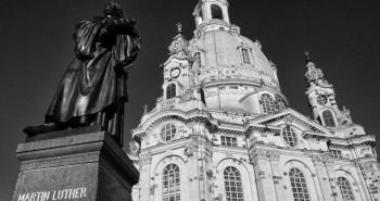 Martin Luther Denkmal und Frauenkirche Dresden