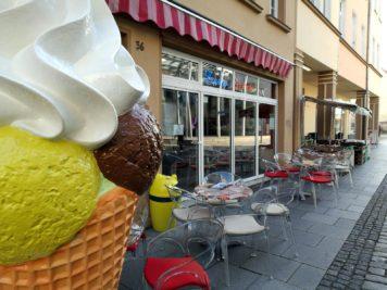 Das Eiscafé Fresco Gelato in der Gotthardstraße