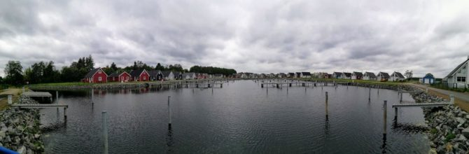 Panoramablick: Feriendorf Hafendorf Zerpenschleuse