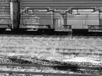Graffiti an Güterwagen - 22.12.2012 Nix mit Maya Kalender