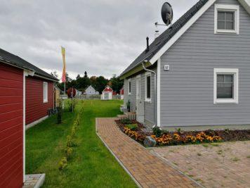 Häuser im skandinavischen Stil
