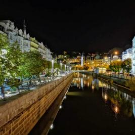 Karlsbad: Stara Louka und Tepla bei Nacht