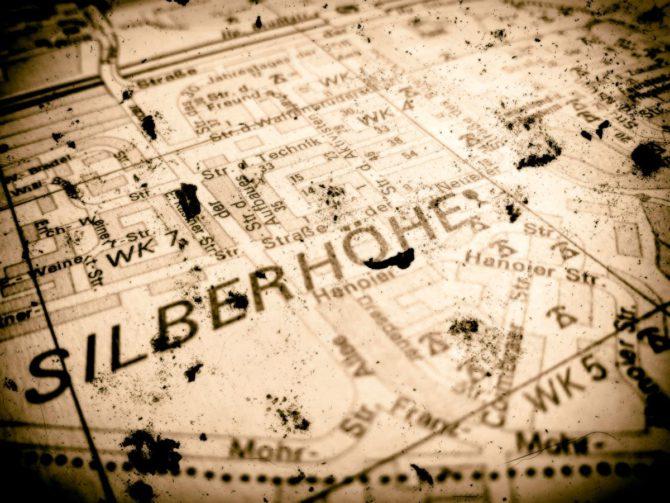 Kartenausschnitt Halle Silberhöhe