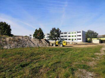Köthen: Karl-Windschild-Weg Baustelle im Oktober 2021