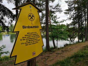 Info-Schild: Birnbaumteich 1699 angelegt
