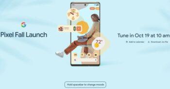Google Pixel 6 Fall Launch (Screenshot)