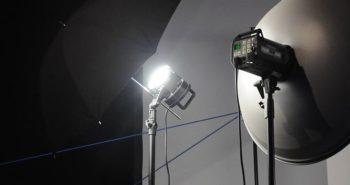 Fotostudio Lichtsetup