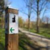 Wittenberg - Lutherweg im Park an den Wallanlagen