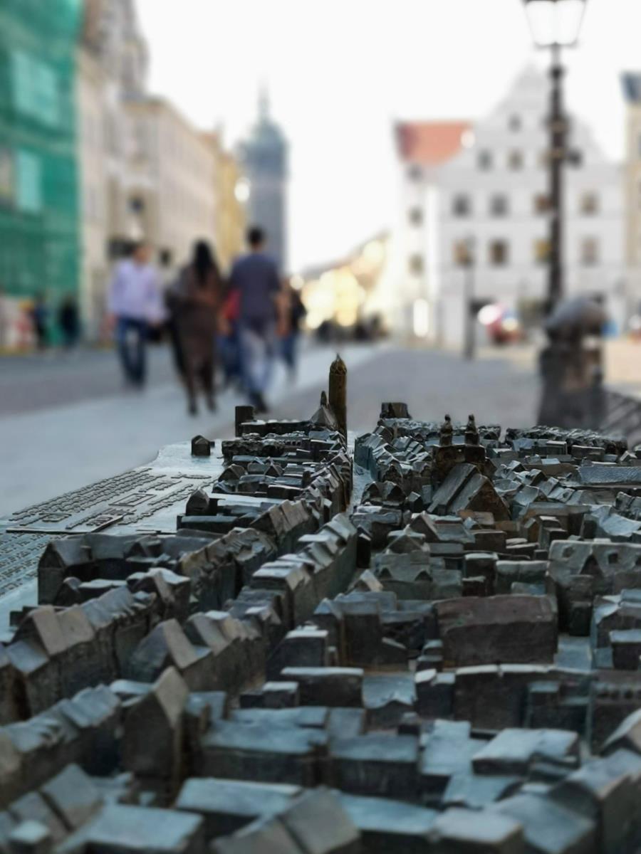Modell von Wittenberg auf dem Marktplatz