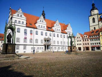 Wittenberg - Rathaus und Stadtkirche