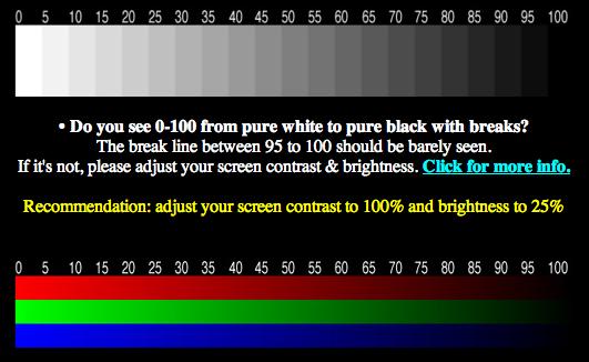 Bildschirm Kalibrieren