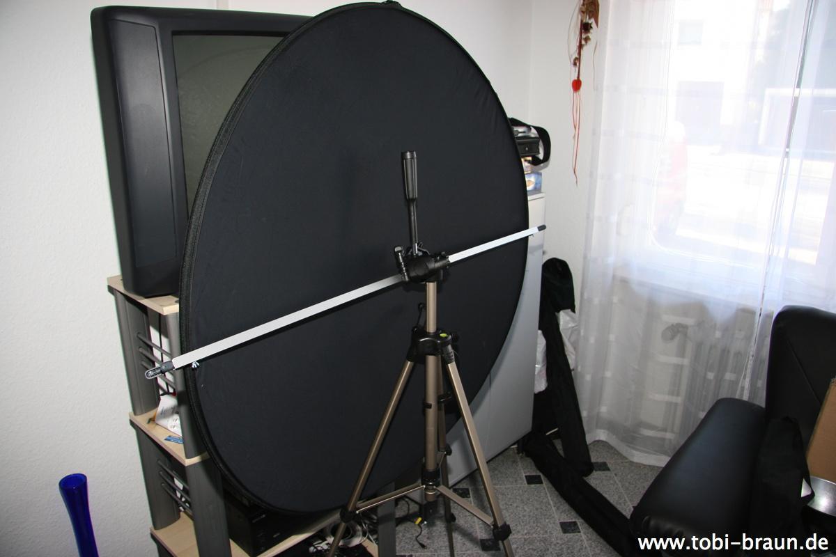 diy reflektorhalter fotoblog. Black Bedroom Furniture Sets. Home Design Ideas