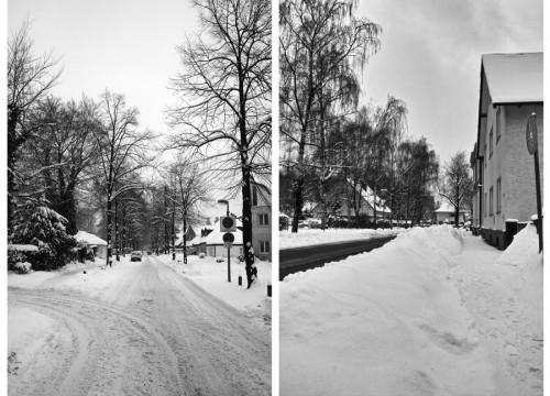 Haufenweise Schnee auf Güterloher Straßen