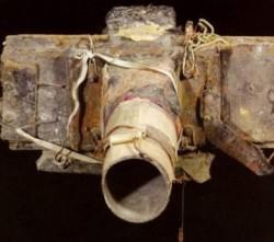 Selbstgebaute Fotokamera eines Landstreichers