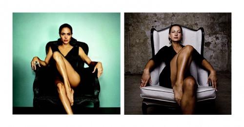 Vergleich Angelina Jolie Sessel Portrait