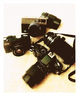 ein kleines Museum an alten Kameras