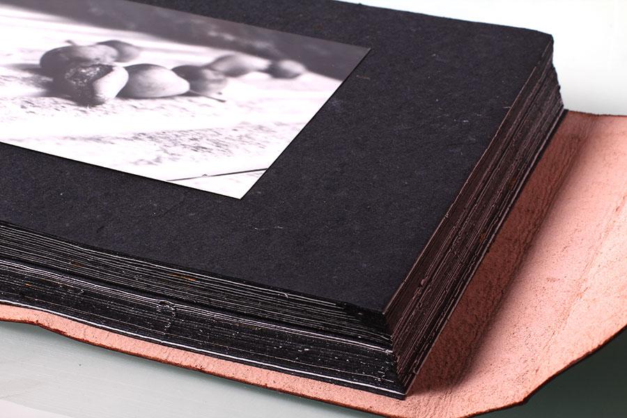Leder fotoalbum im retro look fotoblog for Fotoalbum selbst gestalten