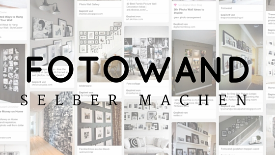 fotowand einfach selber machen fotoblog. Black Bedroom Furniture Sets. Home Design Ideas