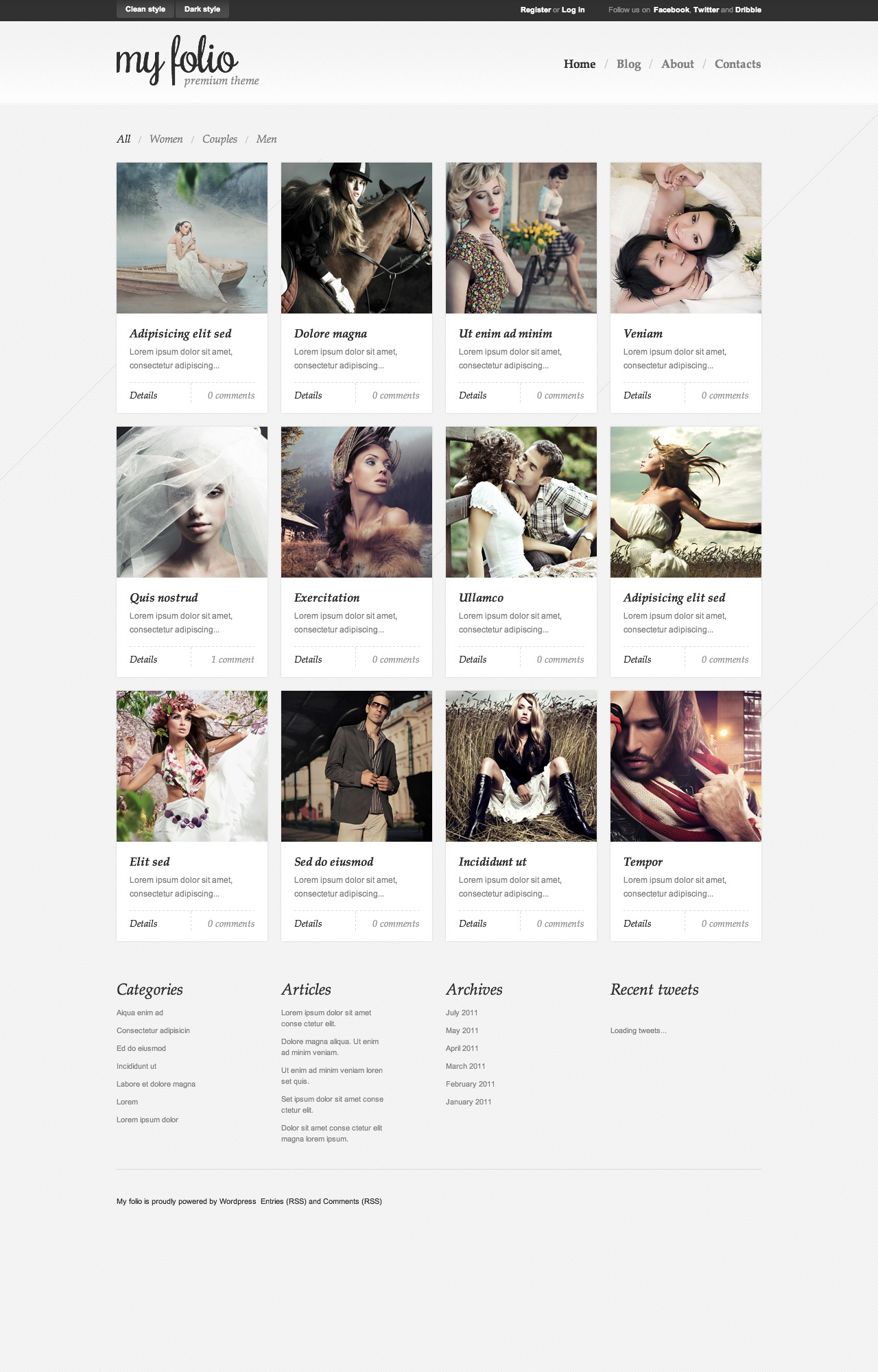 My folio | premium theme