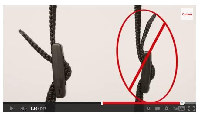 Canon Carecenter Tipp zur Kameragurt Befestigung