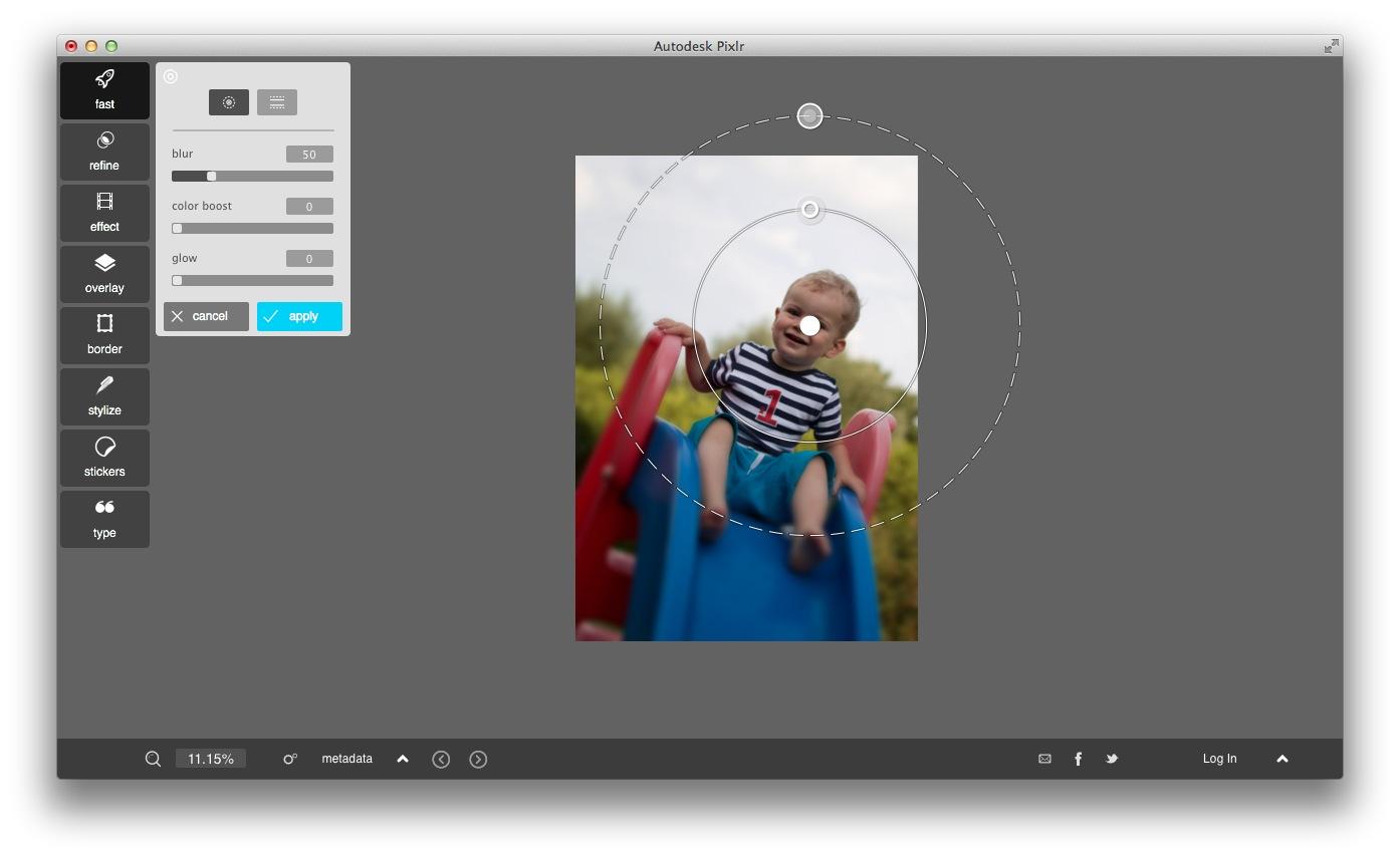 pixlr focal blur