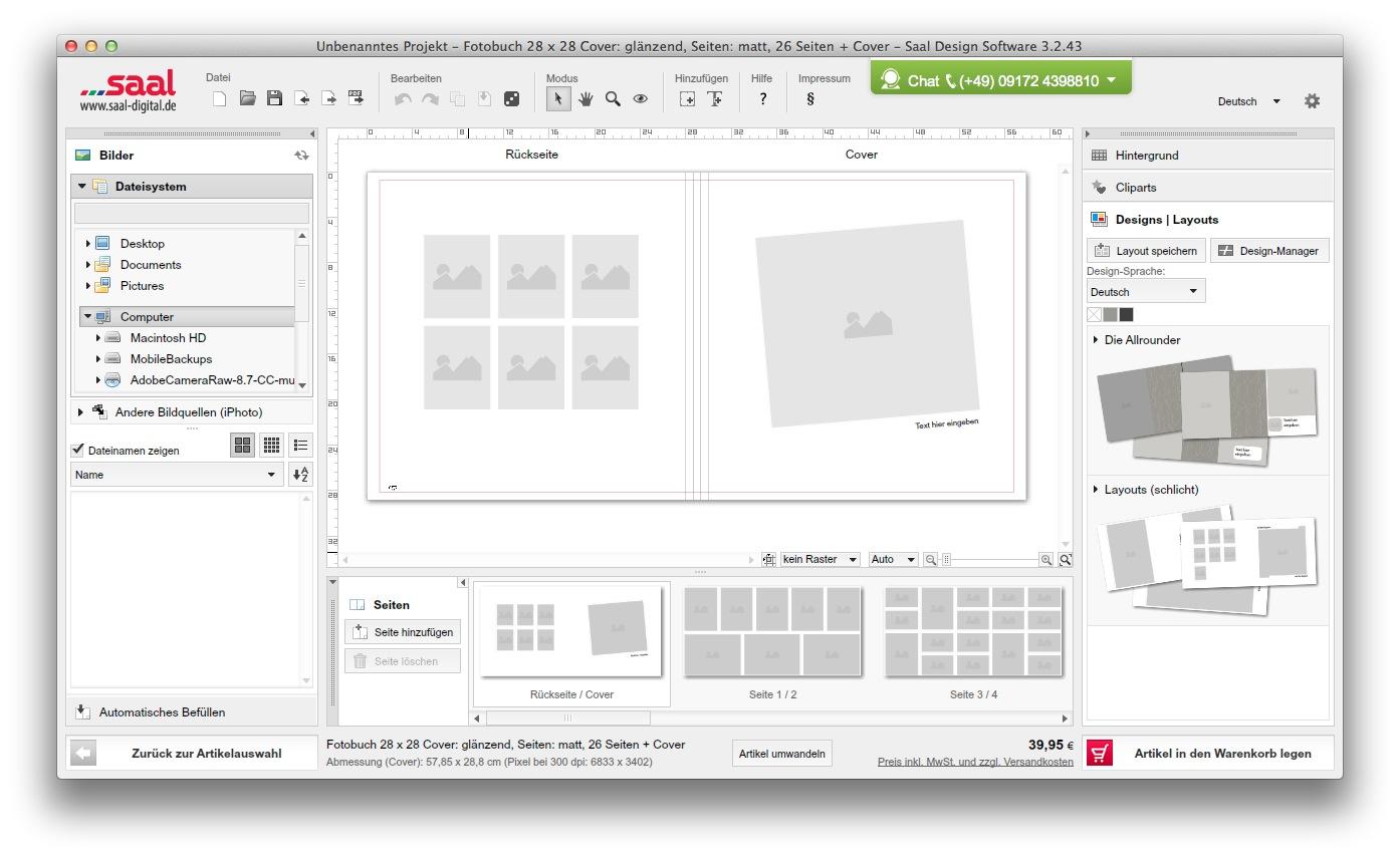 saal digital fotobuch software 13.30